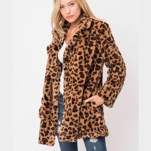 Faux Fur Leopard Jacket Boutique